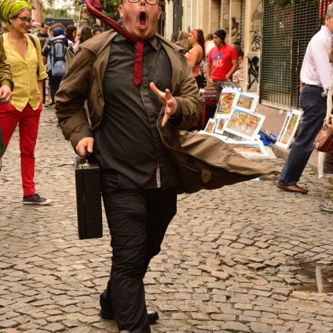 Street performer, Buenos Aires